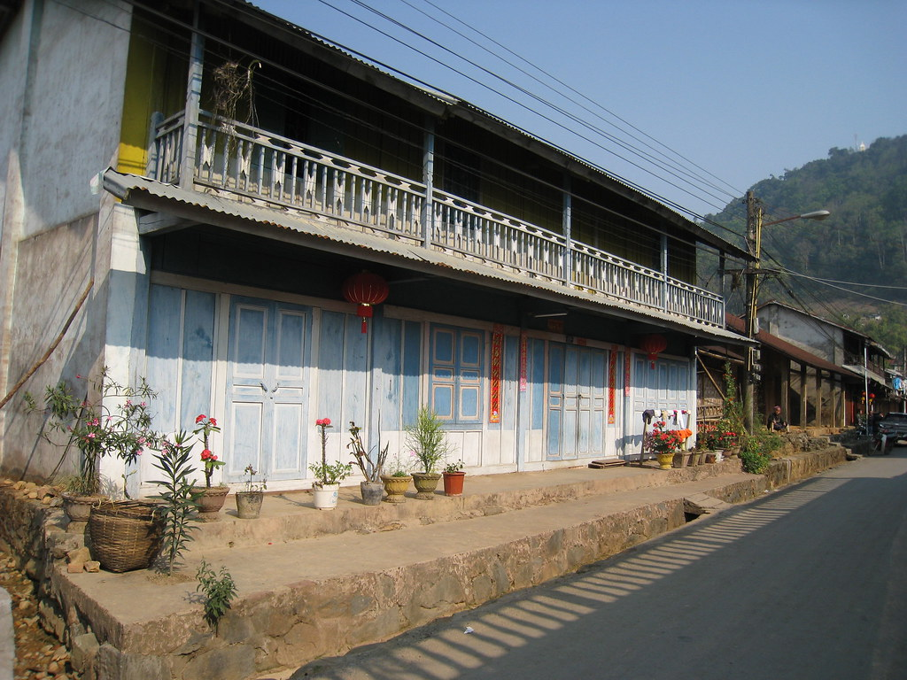 Chinese shopfront, Phongsali, Laos
