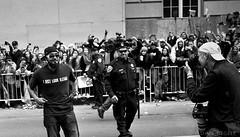 "Romo ""I Just Look Illegal"" (AdamJen) Tags: world portrait bw white black adam mamiya film sergio analog san francisco kodak trix parade series giants f4 2012 romo 80mm addicts 7ii regele"