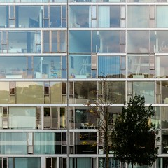 BIG. Mountain Dwellings #3 (Ximo Michavila) Tags: windows sky urban house abstract reflection building geometric glass lines architecture copenhagen denmark big arquitectura repetition cph archidose mountaindwellings archdaily archiref