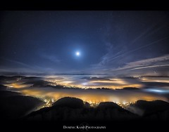 Empire of the Lights (Dominic Kamp) Tags: panorama mist night stars hotel switzerland nebel zurich uetliberg dominic vixen kamp startrails d800 kulm polarie