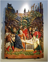 """""""Descente de Croix"""", bas-relief sculpté sur bois peint et doré, d'un maitre inconnu de Trognano, fin XIVe siècle, provenant de l'église Santa Maria del Monte à Velate (Varese) (Barbara DALMAZZO-TEMPEL) Tags: italia milano castellosforzesco varese italie centreville bois basrelief lombardie velate santamariadelmonte descentedecroix palazzosforza pinacothèque museicivici muséedelasculpture finxive maitreinconnudetrognano"""
