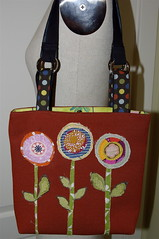 fabric scrap circles purse