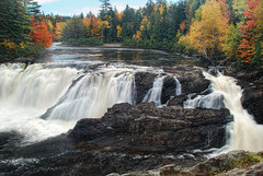 Grand Falls, Maine (VermontDreams) Tags: autumn fall me waterfall maine falls waterfalls somersetcounty grandfalls deadriver t3r4 vermontdreams