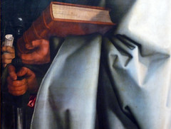 Dürer, The Four Apostles, detail with Bible and sword