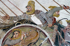 Alexander Mosaic, detail with Darius III in Chariot