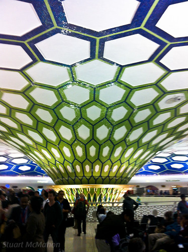 Arrivals / Departures hall at Abu Dhabi Terminal 1