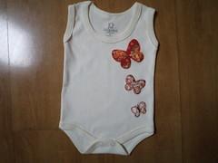 Body Borboleta (Cecilia Marques - Ki Cuti Patch and Fun) Tags: body borboleta bebê patchwork camiseta roupa patchaplique