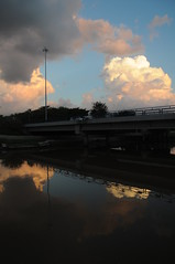 (  asaf pollak) Tags: park city bridge sunset cloud reflection water clouds river israel telaviv stream yarkon yarkonpark              asafpollak