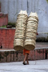 One man, many baskets (10b travelling) Tags: charity nepal two earthquake asia pair dos disaster kathmandu himalaya zwei himalayas himalayan 2010 catastrophe nepali southasia durbarsquare icarry peopleset carstentenbrink