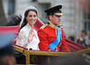 Catherine Middleton, Duchess of Cambridge, with Prince William, Duke of Cambridge,
