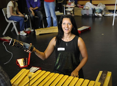 A teacher taking part in the Royal Opera House's scheme Creative Teachers © 2012 ROH