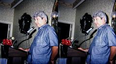 Ray Zone as Pres 1986-88 at Ambassador Hotel Dec banquet by Susan Pinsky (reel3d1) Tags: 3d zone threedimensional scsc rayzone la3dclub