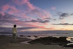 Day 329 (Michael Rozycki) Tags: ocean pink sunset sea portrait sky cloud rock self canon project sand personal wave 7d select 1755