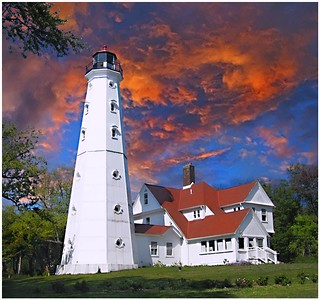 Milwaukee WI ~ North Point Lighthouse  ~ 1886 ~ Museum