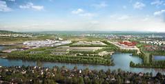 Le projet de port de Triel vu depuis le coteau de Villennes © Ports de Paris