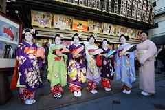 KIMONO (Teruhide Tomori) Tags: portrait woman japan lady kyoto december traditional maiko kabuki   kimono    minamiza
