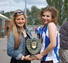 Caoimhe & Mel with Inter Counties Trophy