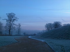 Misty dawn (CarolAnn Photos) Tags: camera water landscape phone northamptonshire meadows towcester flickrdroid