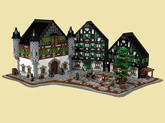 CCCX - A petition to Altberg (Becheman) Tags: black castle forest bavaria lego povray ldraw cccx