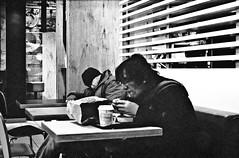 McDonalds, Camden (forayinto35mm) Tags: london coffee 50mm restaurant pentax kodak camden burger trix homeless fastfood mcdonalds kodaktrix pushed pentaxmesuper camdentown iso1600 drunkman sleepingman camdenhighstreet