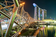 Singapore Night Scene ( (San)) Tags: trip travel singapore business nightscene