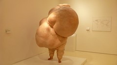 2012-12-15 Fat on Legs, Welcome Collection, London (MedEighty) Tags: 2003 uk england sculpture white male london modern female december fat collection disgusting welcome diet obesity folds obese unhealthy 2012 overweight disfigured bulges johnisaacs icanthelpthewayifeel medeighty