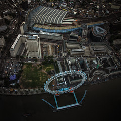 London eye from the sky (stocks photography) Tags: london stocks aerialphotography waterloostation thelondoneye stocksphotography michaelmarsh inflightcam