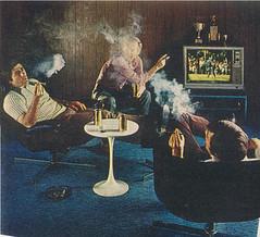 This is a Man's World, 1972 (STUDIOZ7) Tags: man men sports golf tv ad suburbia guys spray smoking advertisement professional 70s cigars 1970s smoker pga aerosol macho seventies husbands disinfectant lysol