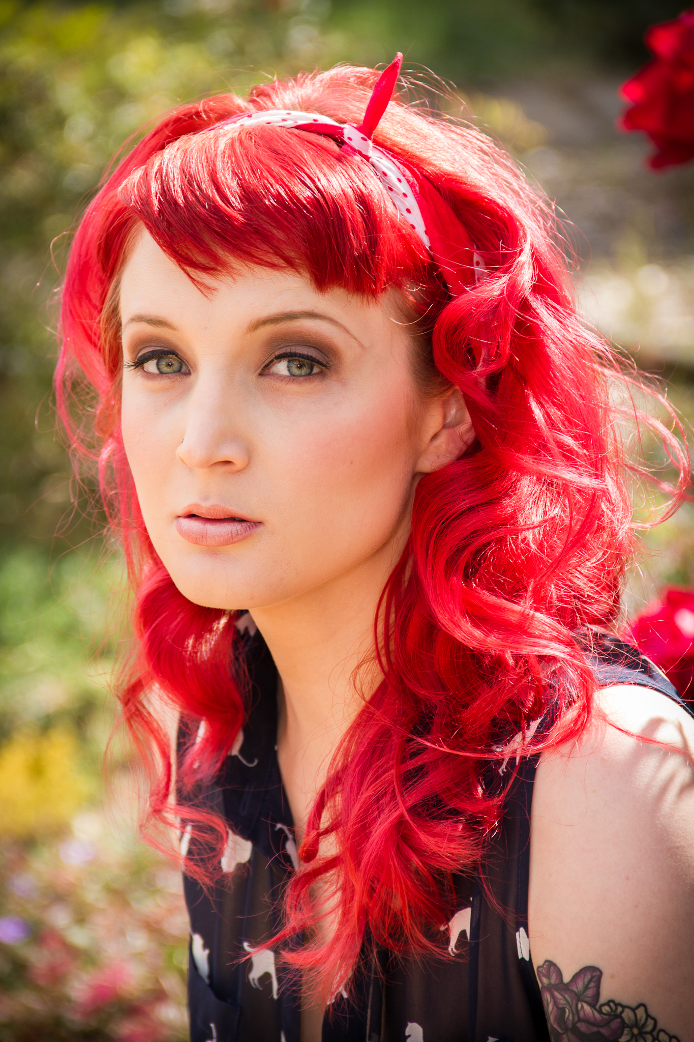... red hair #bright red hair #dyed red hair #dyed hair #long red hair