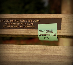 Surprise inspiration (taylorleigh-photos) Tags: inspiration vancouver bench random note stanleypark kindness