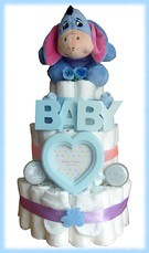 Eeyore nappy cake (2) (Labours Of Love Baby Gifts) Tags: babygift nappycake nappycakes newbabygifts laboursoflovebabygifts