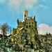 Schloss Lichtenstein, nach leichtem Schneefall im März 2007