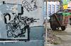Endless, shooting the trash (mcfcrandall) Tags: endless streetart graffiti combat gun terrorist fighting weapon trashbin street london stencil black wall outdoors