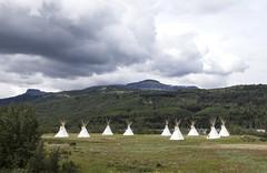Campground (Kim Tashjian) Tags: montana glaciernationalpark tipi tepee blackfeetreservation