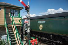 Harmans Cross Station 15 (Matt_Rayner) Tags: swanage railway 34070 manston sr battle of britain class steam train