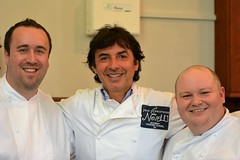 Jean-Christophe Novelli with Andrew Scott and Nick Bennett