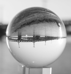 _MG_0400 (AdamFejes) Tags: glass globe glassglobe pointofview light sun summer blackandwhite bw colour city budapest danube sunset