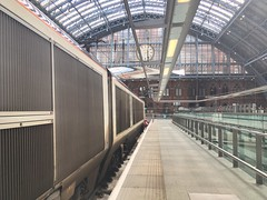 Eurostar, St Pancras International (Dradny) Tags: capitalcities architecture platform oldeurostartrain poets poetry travel stpancrasinternational paris london eurostar