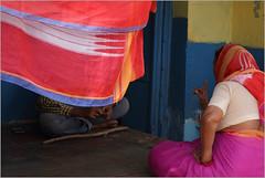 mother, badami (nevil zaveri (thank you for 10 million+ views :)) Tags: zaveri india badami street home house palm karnataka photography photographer images photos blog stockimages photograph photographs nevil nevilzaveri stock photo architecture people woman women mother son advice saree