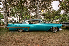 1957 cadillac (pixel fixel) Tags: 1957 cadillac sideview signalhill signalhillpark sultans turquoise