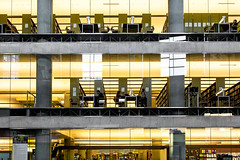 224 / 366 - The Breakfast Club (Pamela Saunders) Tags: library vancouver night work 366 366project levels floors story