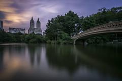 Sunset in Central Park (flowerbridge@rocketmail.com) Tags: newyork centralpark bowbridge sunset dramaskies clouds