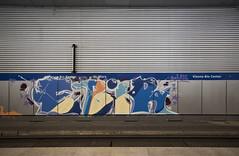 Ebir (Herbalizer) Tags: ebir graffiti vienna wien line wiener linie bb wall wand station trackside