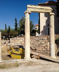 Colonnade and skip, Roman Agora in Athens (Andy Hay) Tags: 2016 athens colonnade greece lightroom plaka romanagora romanforum skip athina attica