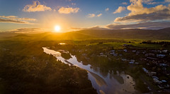 Sunset over Crooked River (Andy Hutchinson) Tags: australia gerroa drone shoalhaven sunset aerial nsw newsouthwales au