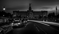 A Night At The Palace (Nick.Richards) Tags: buckinghampalace palace architecture mono monochrome longexposure london traffic lighttrails lightroom nikon nikon1685 nickrichards nikond7100 d7100