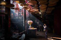 Tin Hau Temple, Hong Kong (Grumpysumpy) Tags: tinhautemple hongkong travel fujixt1 1855mm worship lightbeam light incense
