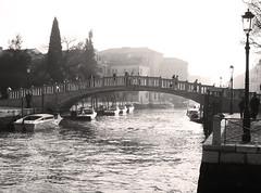 Venezia (milka rabasa) Tags: venezia venecia venise puente canal grancanal blackandwhite bridge sonydscv3 noiretblanc