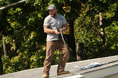 05 BEAR on the ROOF! (Violentz) Tags: male guy man roofer roof bear bearded hairy tattooed house home patricklentzphotography