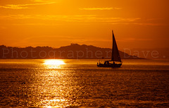 Lonesome Boatman. (Photographer Dave C) Tags: sky stunning sun sea sunset silhouette mygearandme mymindseye canon canonofficial canon40d landscape light seascape bangor beauty belfastlough boats colour 2016